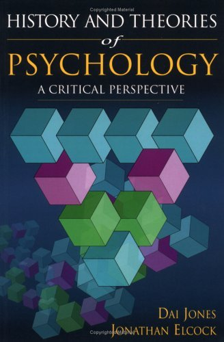 History and Theories of Psychology A Critical Perspective  2001 edition cover