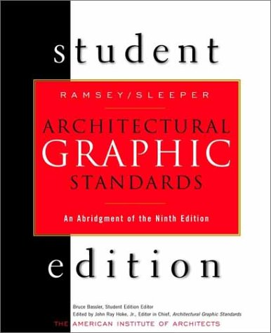 Architectural Graphic Standards  9th 2000 edition cover