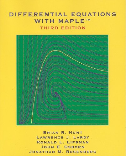 Differential Equations with Maple  3rd 2009 edition cover