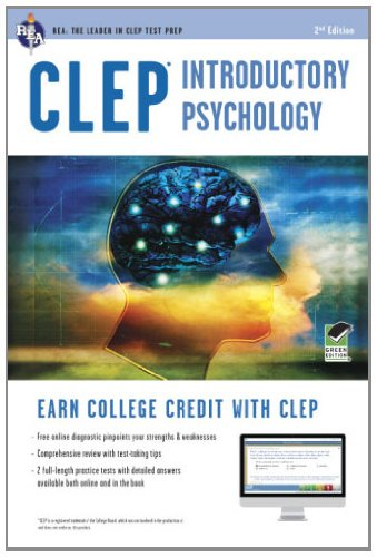 CLEP� Introductory Psychology  2nd 2014 (Revised) edition cover
