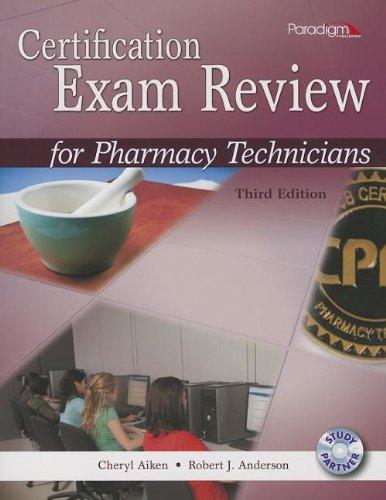 CERTIFICATION EXAM F/PHARM.TEC N/A edition cover