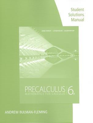 Precalculus Mathematics for Calculus 6th 2012 edition cover