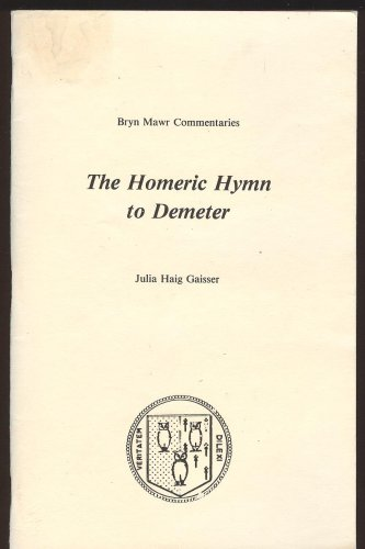 Homeric Hymn to Demeter  N/A edition cover