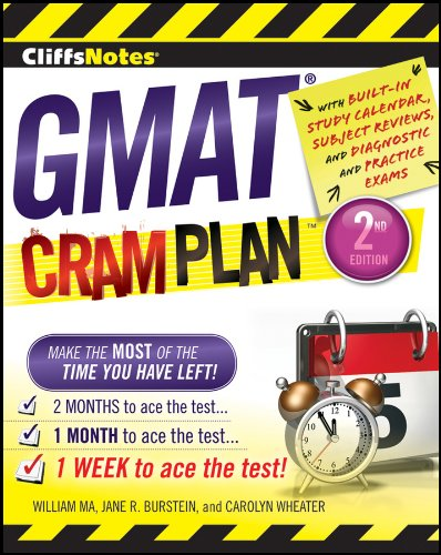 GMAT Cram Plan  2nd 2012 edition cover