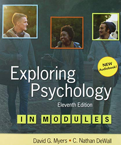 Exploring Psychology in Modules:   2018 9781319104177 Front Cover