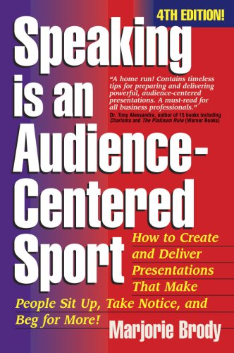 Speaking Is an Audience-Centered Sport 4th 2008 edition cover
