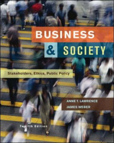 Business and Society Stakeholders, Ethics, Public Policy 12th 2008 (Revised) edition cover