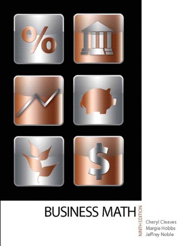 Business Mathematics  9th 2012 edition cover