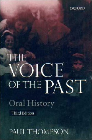 Voice of the Past Oral History 3rd 2000 (Revised) edition cover