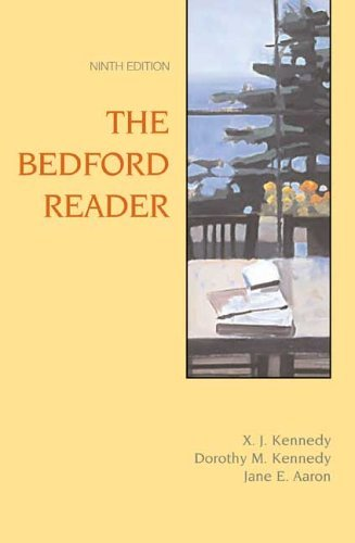 Bedford Reader  9th 2006 edition cover