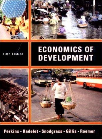 Economics of Development  5th 2001 edition cover