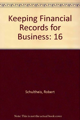 Keeping Financial Records for Business  8th 1995 (Workbook) 9780538633178 Front Cover