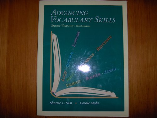 Advancing Vocabulary Skills, Short Version 3rd 2002 9780944210178 Front Cover