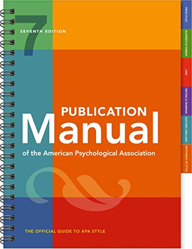 Publication Manual of the American Psychological Association:   2019 9781433832178 Front Cover