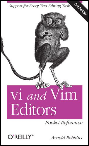 Vi and Vim Editors Pocket Reference Support for Every Text Editing Task 2nd 2011 edition cover