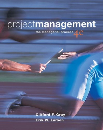 Project Management The Managerial Process 4th 2008 edition cover
