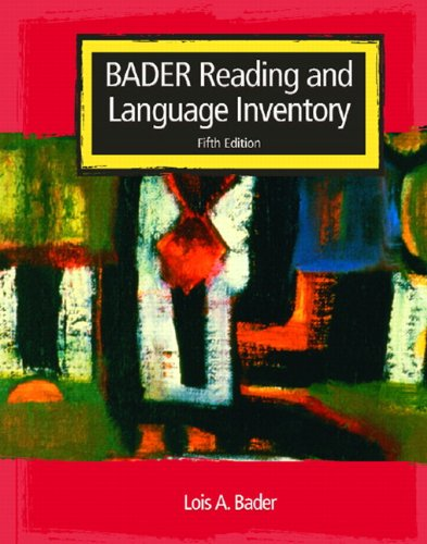 Reading and Language Inventory  5th 2005 (Revised) edition cover