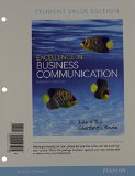 Excellence in Business Communication, Student Value Edition Plus 2014 MyBCommLab with Pearson EText -- Access Card Package  11th 2015 edition cover