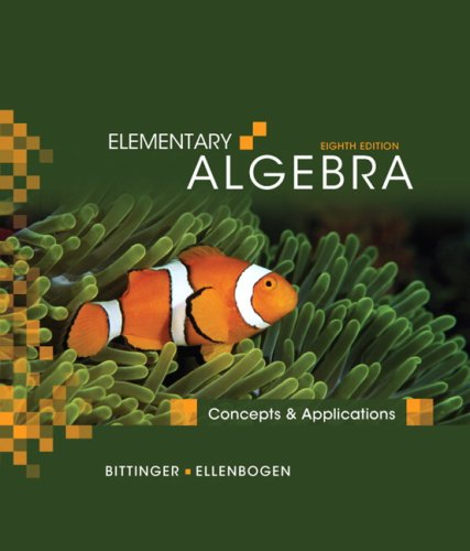 Elementary Algebra Concepts and Applications 8th 2010 edition cover