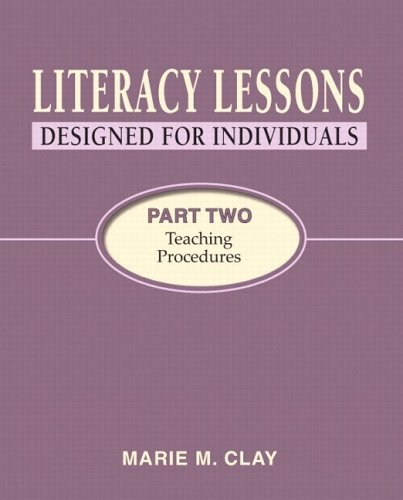 Literacy Lessons - Designed for Individuals Teaching Procedures  2005 edition cover