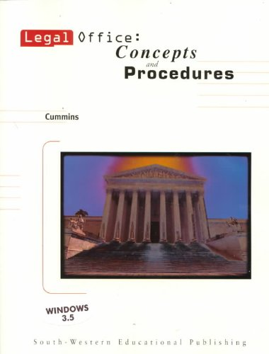 Legal Office Concepts and Procedures  1998 9780538719179 Front Cover