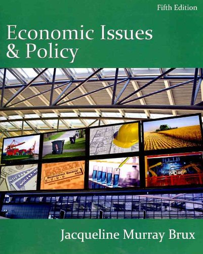 Economic Issues and Policy  5th 2011 edition cover