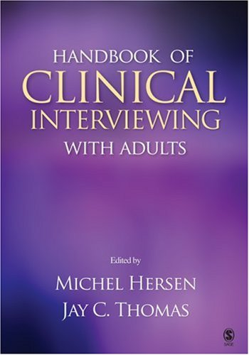 Handbook of Clinical Interviewing with Adults   2007 9781412917179 Front Cover