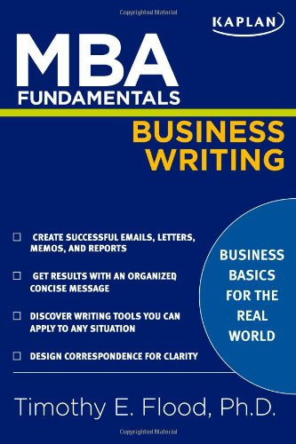 MBA Fundamentals Business Writing  N/A edition cover