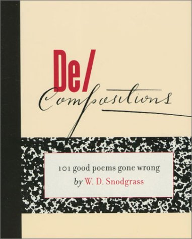 De/Compositions 101 Good Poems Gone Wrong  2001 edition cover