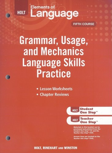 Grammar, Usage, and Mechanics Language Skills Practice  N/A 9780030994180 Front Cover