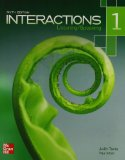 Interactions Level 1 Listening/Speaking Student Book  6th edition cover