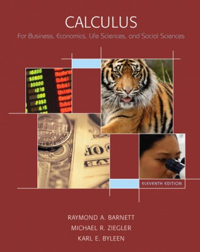 Calculus For Business, Economics, Life Sciences, and Social Sciences 11th 2008 edition cover