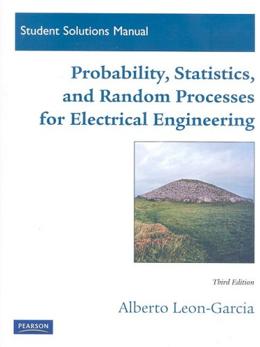 Student Solutions Manual for Probability, Statistics, and Random Processes for Electrical Engineering  3rd 2008 edition cover