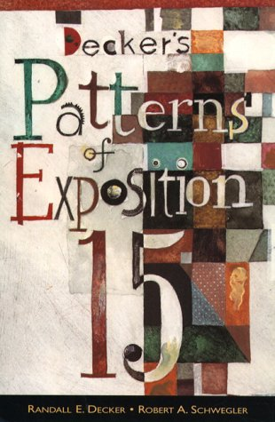 Decker's Patterns of Exposition 15  15th 1998 9780321012180 Front Cover