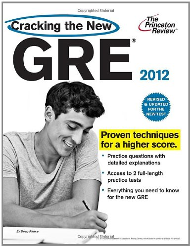 Cracking the New GRE 2012   2011 (Revised) 9780375428180 Front Cover