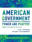 American Government: Power & Purpose, 2014 Election Update  2015 edition cover