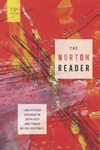 Norton Reader An Anthology of Nonfiction 13th 2011 edition cover