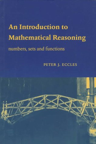 Introduction to Mathematical Reasoning Numbers, Sets and Functions  1997 edition cover