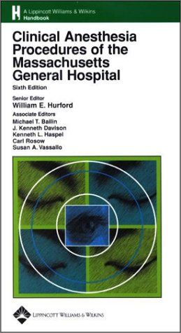 Clinical Anesthesia Procedures of the Massachusetts General Hospital  6th 2002 (Revised) edition cover