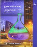 Student Solutions Manual to Accomapany - Introductory Chemistry - A Foundation -  Introductory Chemistry - Basic Chemistry  8th 2015 edition cover