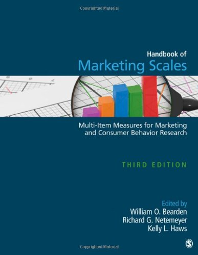 Handbook of Marketing Scales Multi-Item Measures for Marketing and Consumer Behavior Research 3rd 2011 edition cover
