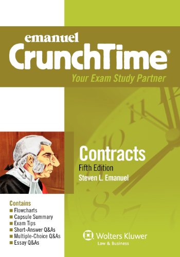 Emanuel Crunchtime Contracts 5th 2012 (Student Manual, Study Guide, etc.) edition cover