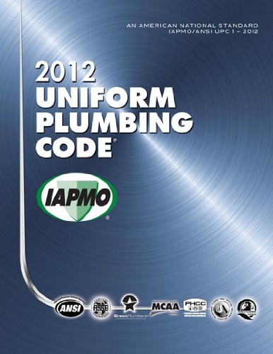 2012 Uniform Plumbing Code   2012 edition cover