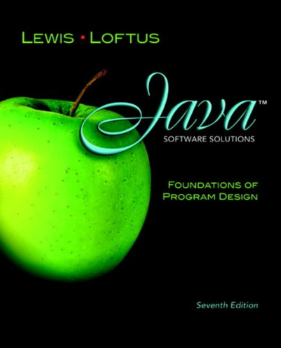 Java Software Solutions Foundations of Program Design 7th 2012 edition cover
