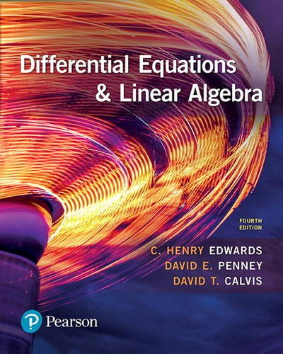 Differential Equations and Linear Algebra:   2017 9780134497181 Front Cover