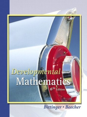 Developmental Mathematics  6th 2004 (Revised) 9780321143181 Front Cover