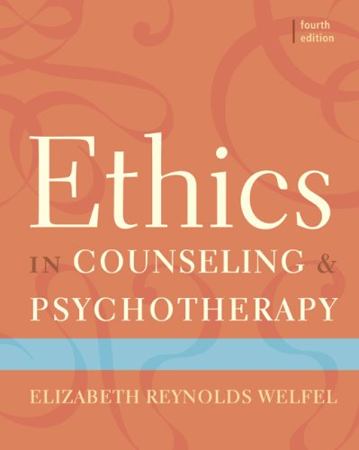Ethics in Counseling and Psychotherapy  4th 2010 edition cover
