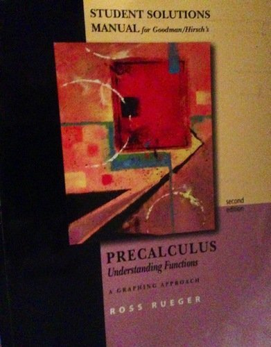 Precalculus Understanding Functions - A Graphing Approach 2nd 2004 9780534387181 Front Cover