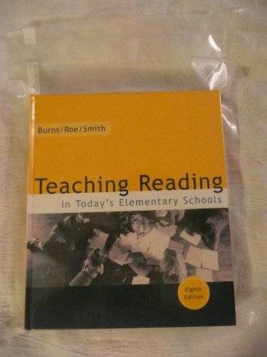Teaching Reading in Today's Elementary Schools 8th 2002 9780618102181 Front Cover