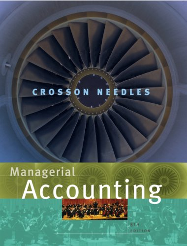 Managerial Accounting  8th 2008 edition cover